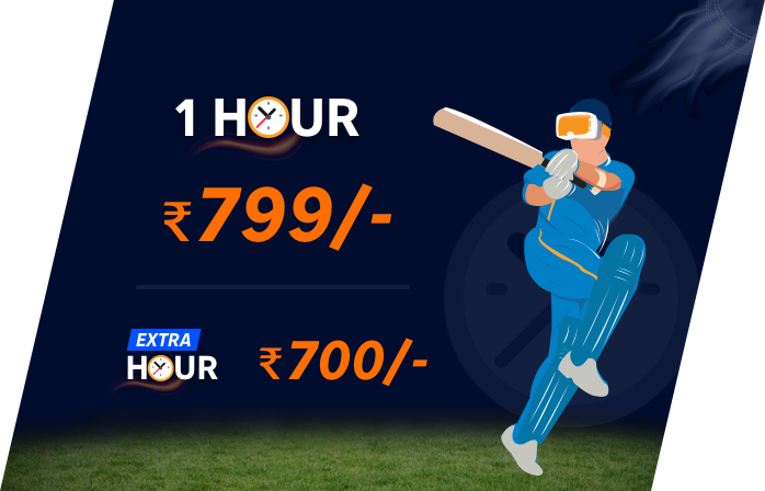 1 hr Rs 799 | Extra hr Rs 700